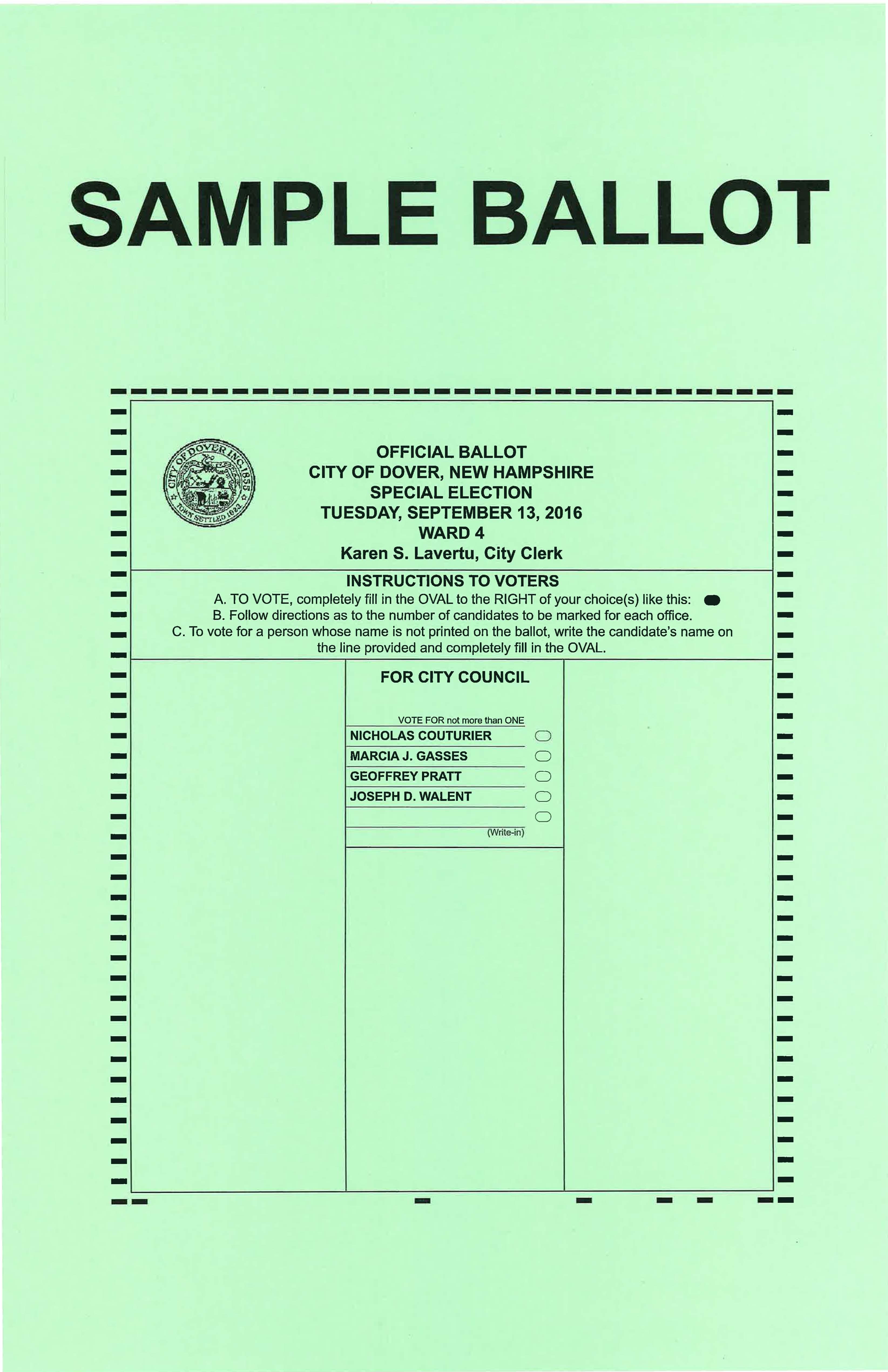 2016 Ward 4 City Council Special Election