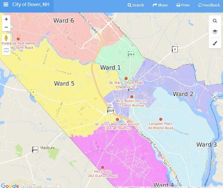 City of Dover Online Maps - Ward Information