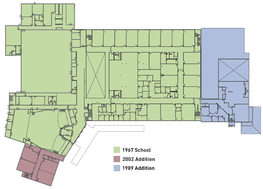 Dover High School layout