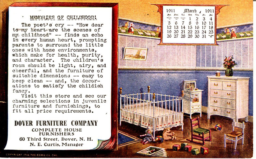 1911 Dover Furniture Company Advertisement